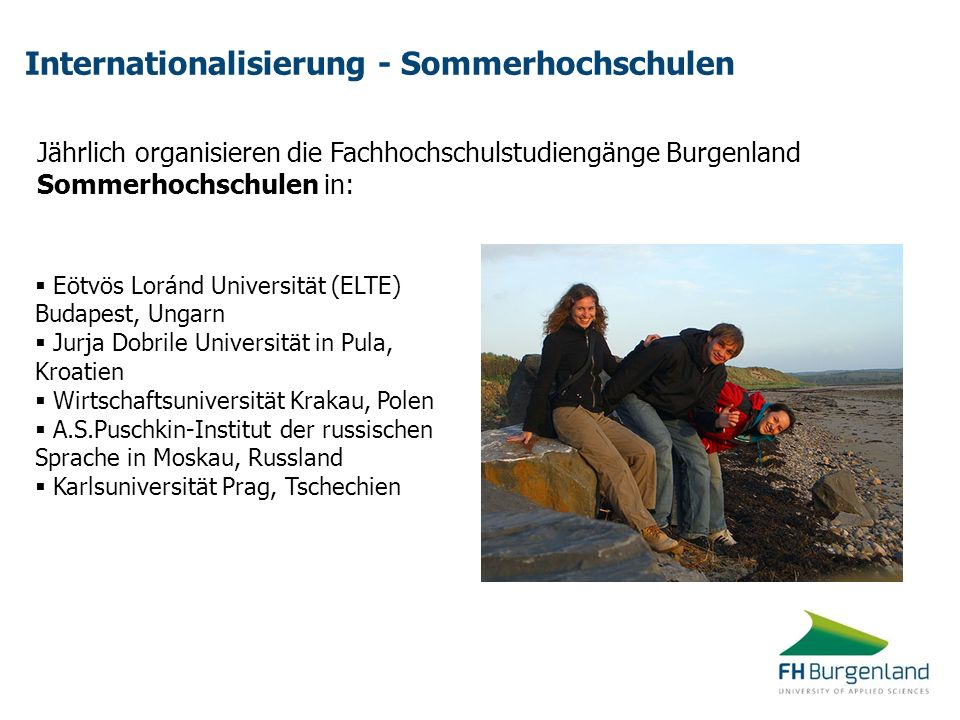 Internationalisierung - Sommerhochschulen