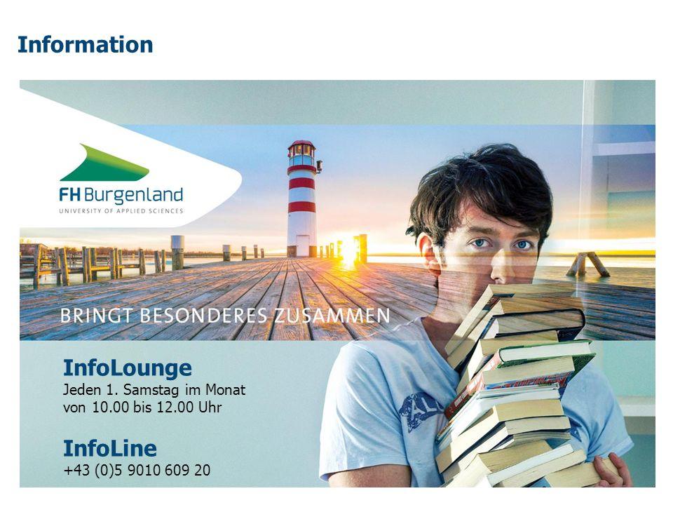 Information InfoLounge InfoLine Jeden 1. Samstag im Monat