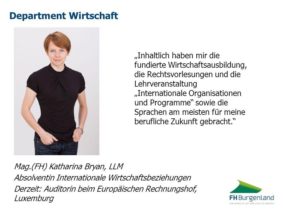 Department Wirtschaft