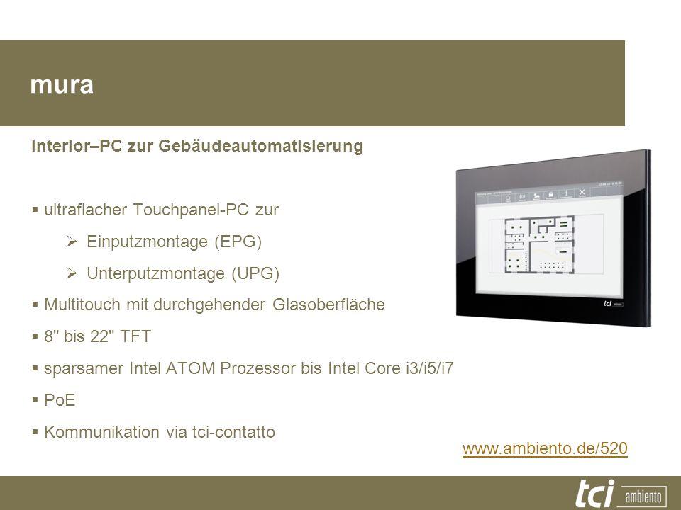mura Produktfamilie Interior–PC zur Gebäudeautomatisierung