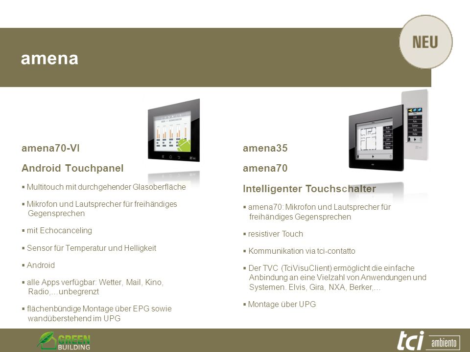 amena amena70-VI Android Touchpanel amena35 amena70