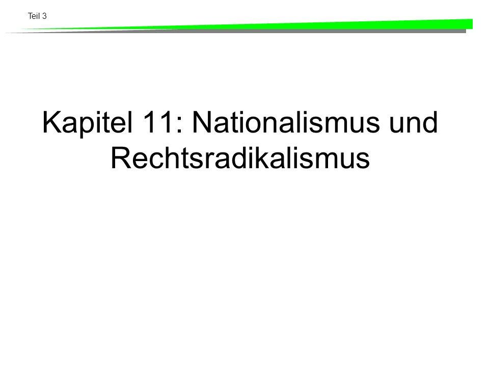 Kapitel 11: Nationalismus und Rechtsradikalismus