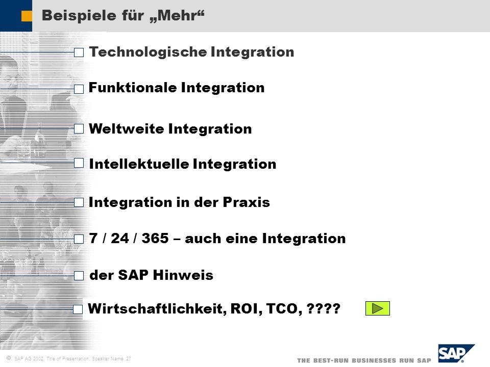 """Beispiele für """"Mehr Technologische Integration"""