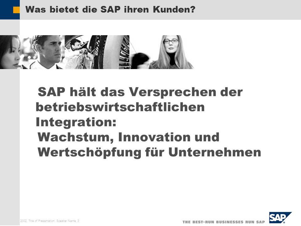 Was bietet die SAP ihren Kunden