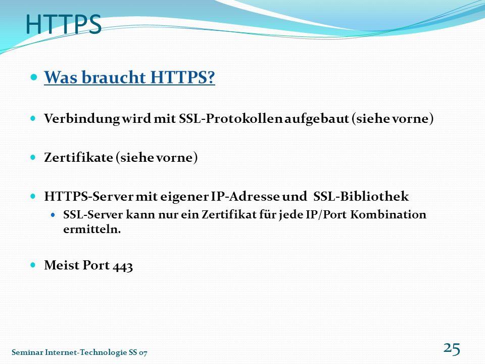 HTTPS Was braucht HTTPS