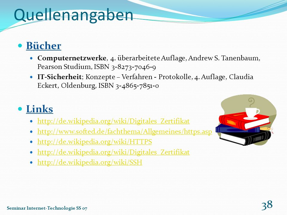 Quellenangaben Bücher Links