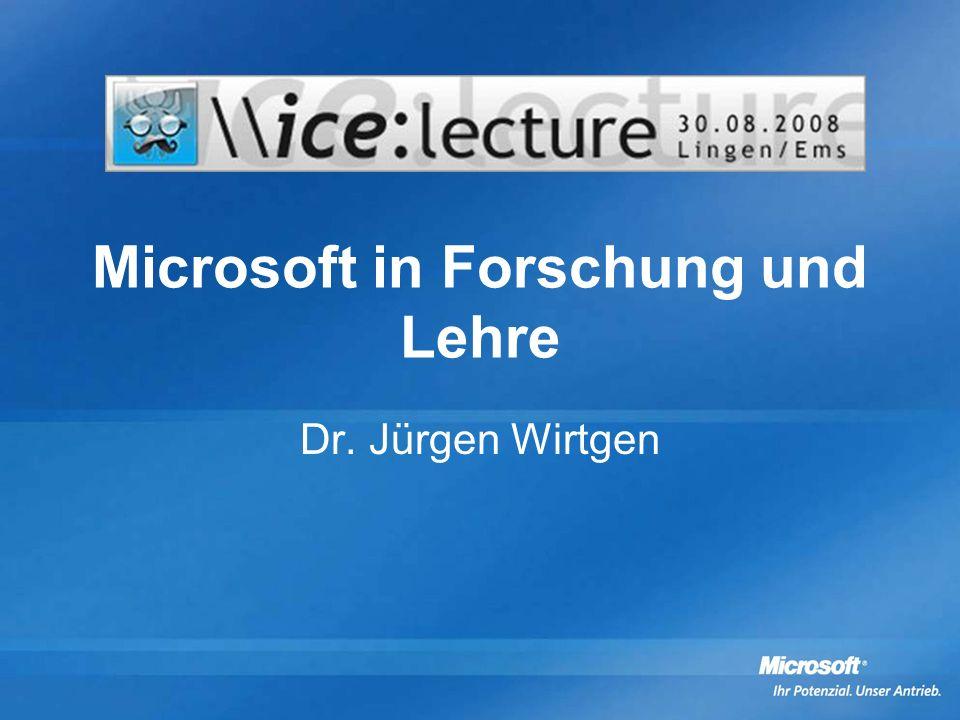 Microsoft in Forschung und Lehre