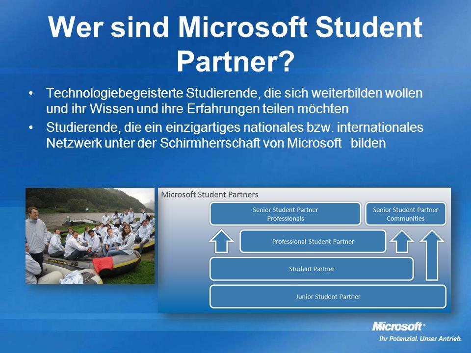 Wer sind Microsoft Student Partner