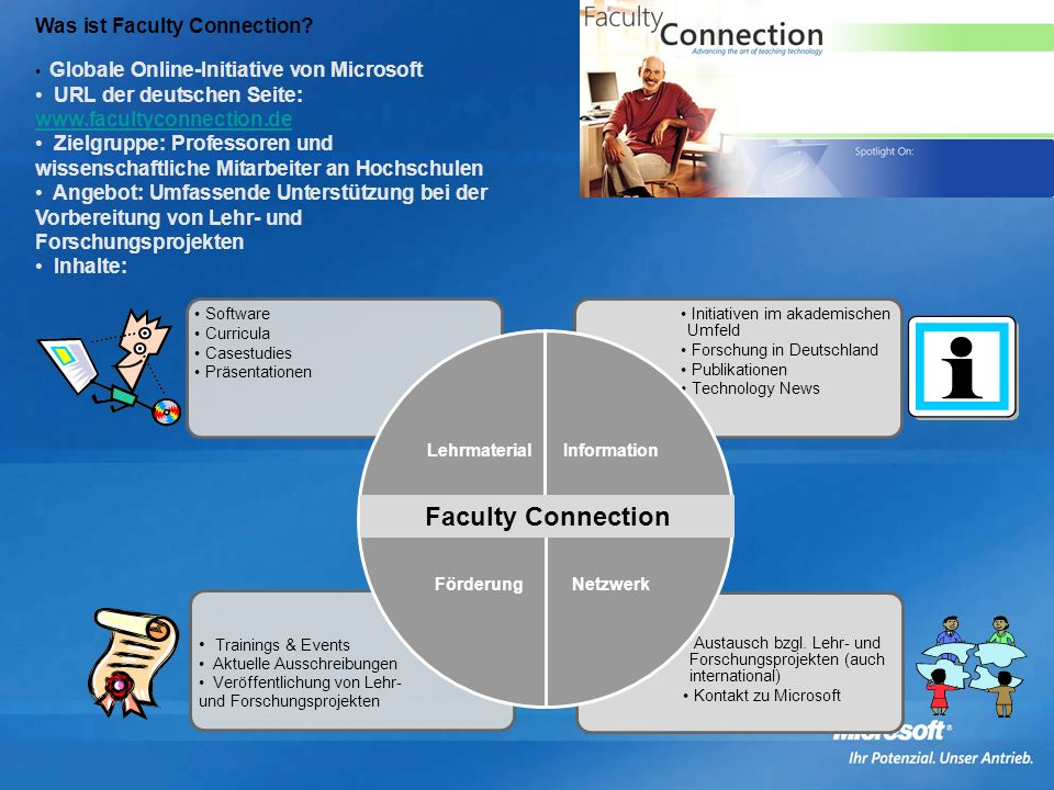 Faculty Connection Was ist Faculty Connection