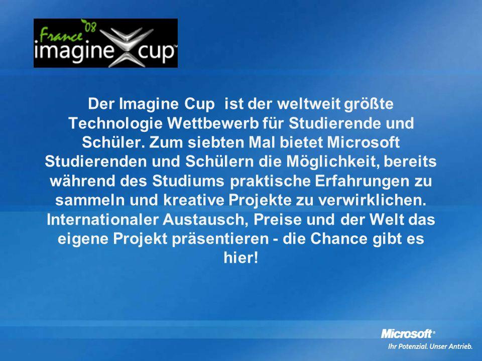 Der Imagine Cup ist der weltweit größte Technologie Wettbewerb für Studierende und Schüler.