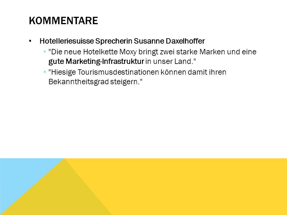 Kommentare Hotelleriesuisse Sprecherin Susanne Daxelhoffer