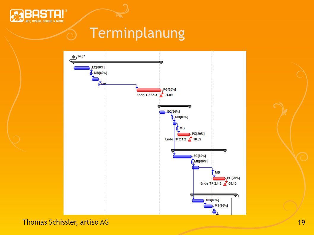 Terminplanung Thomas Schissler, artiso AG