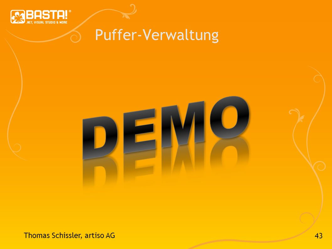 Puffer-Verwaltung DEMO Thomas Schissler, artiso AG