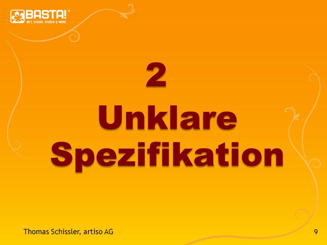2 Unklare Spezifikation