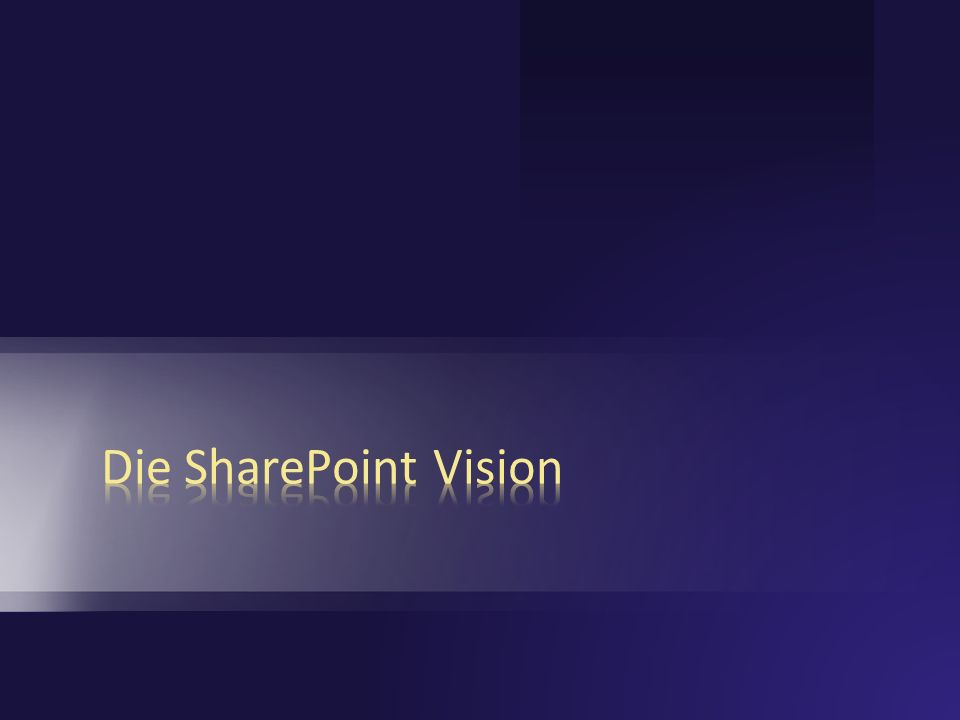 Die SharePoint Vision 3/28/2017 7:01 PM