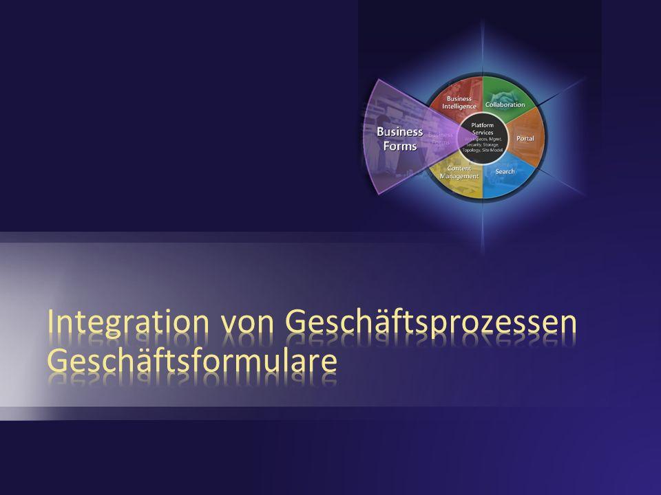 Integration von Geschäftsprozessen Geschäftsformulare