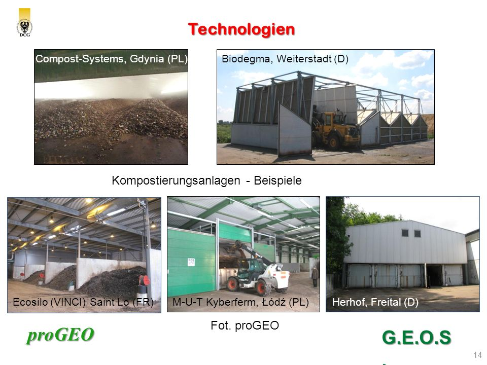 G.E.O.S. Technologien Kompostierungsanlagen - Beispiele Fot. proGEO