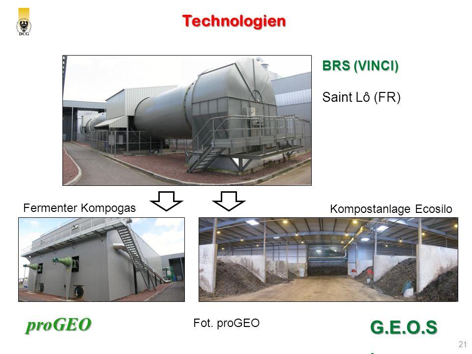 G.E.O.S. Technologien BRS (VINCI) Saint Lô (FR) MSW Fermenter Kompogas