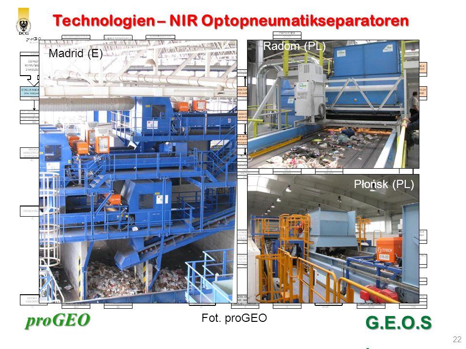 Technologien – NIR Optopneumatikseparatoren