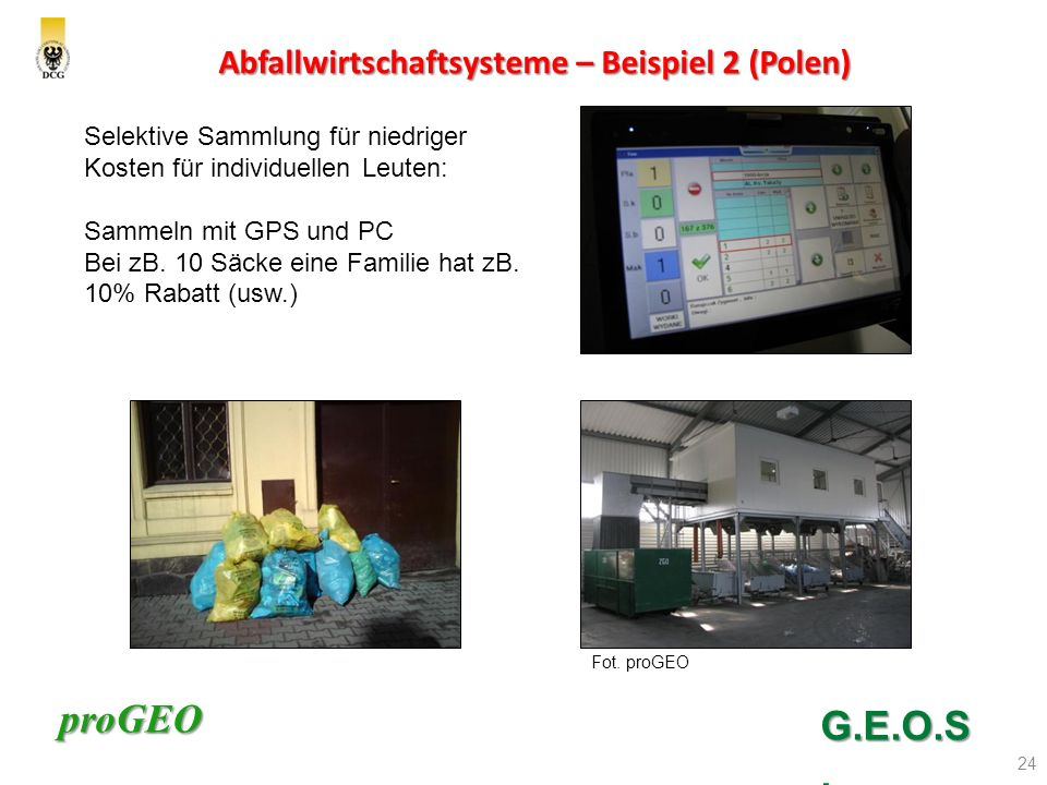 Abfallwirtschaftsysteme – Beispiel 2 (Polen)