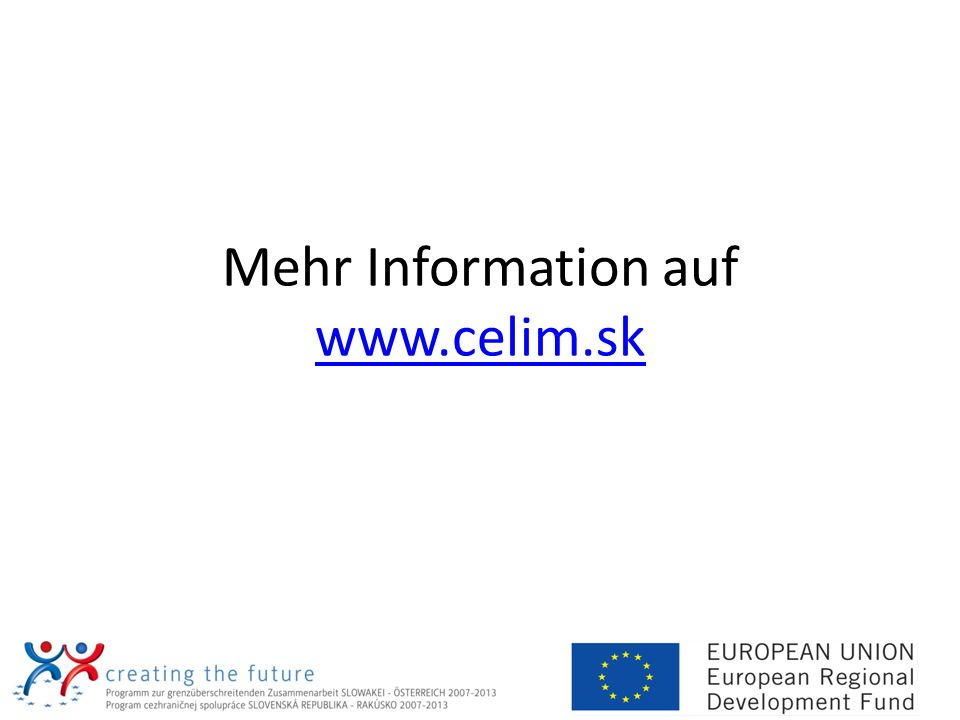 Mehr Information auf www.celim.sk