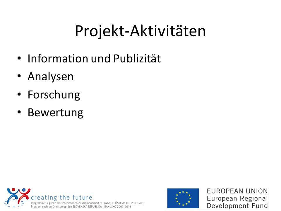 Projekt-Aktivitäten Information und Publizität Analysen Forschung