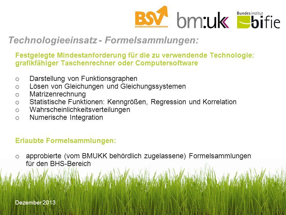 Technologieeinsatz - Formelsammlungen: