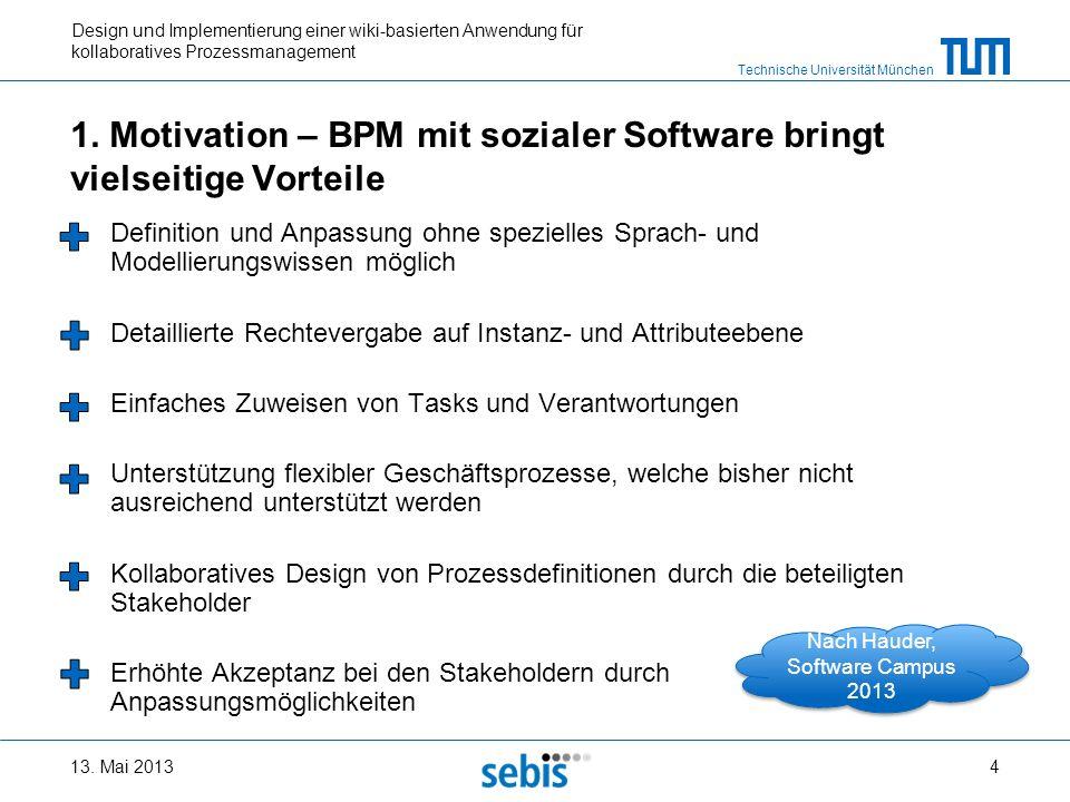 1. Motivation – BPM mit sozialer Software bringt vielseitige Vorteile