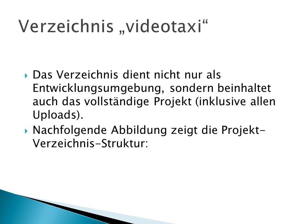 """Verzeichnis """"videotaxi"""