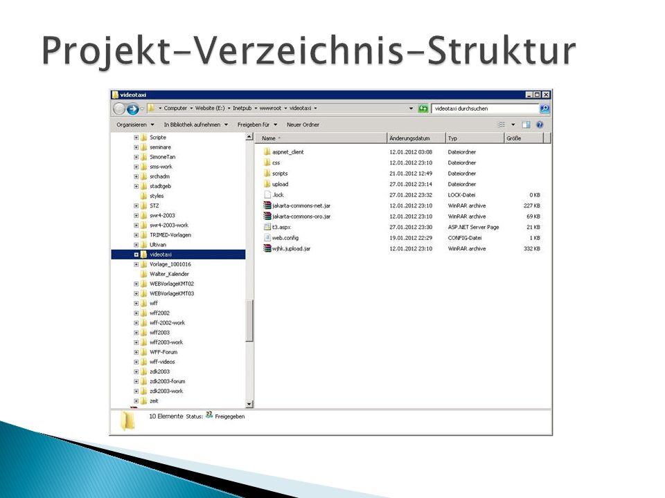 Projekt-Verzeichnis-Struktur