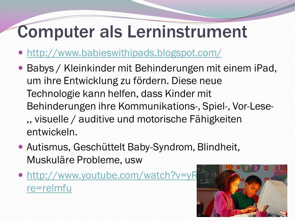 Computer als Lerninstrument