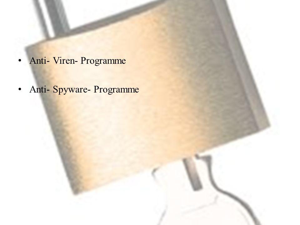 Anti- Viren- Programme