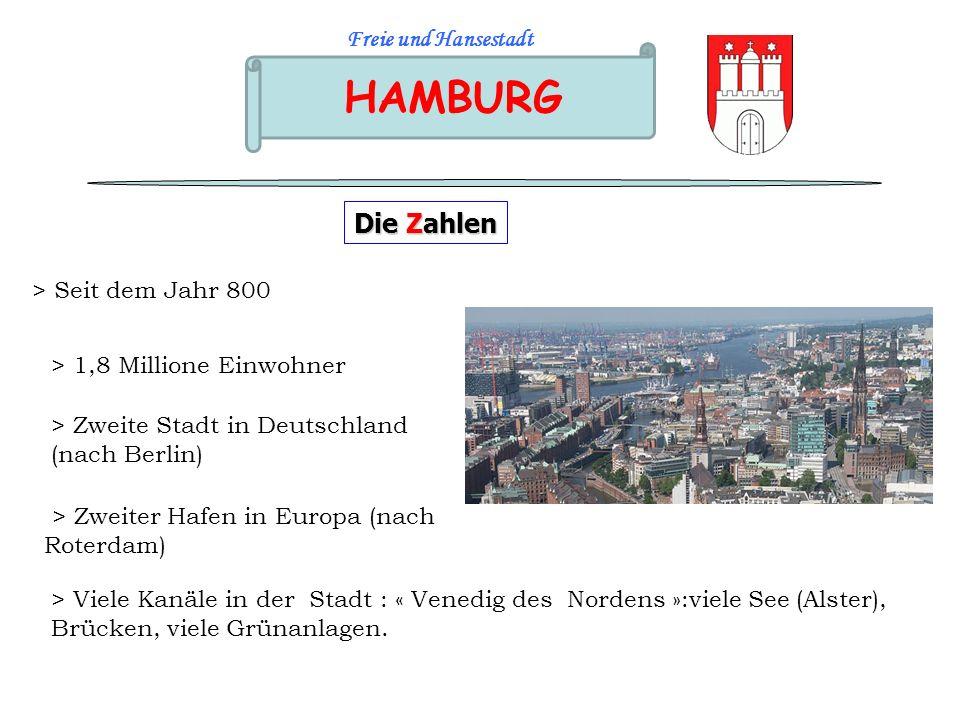 HAMBURG Die Zahlen Freie und Hansestadt > Seit dem Jahr 800