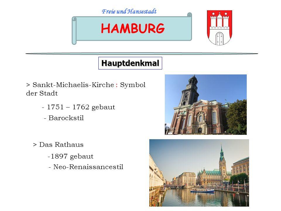 HAMBURG Hauptdenkmal Freie und Hansestadt