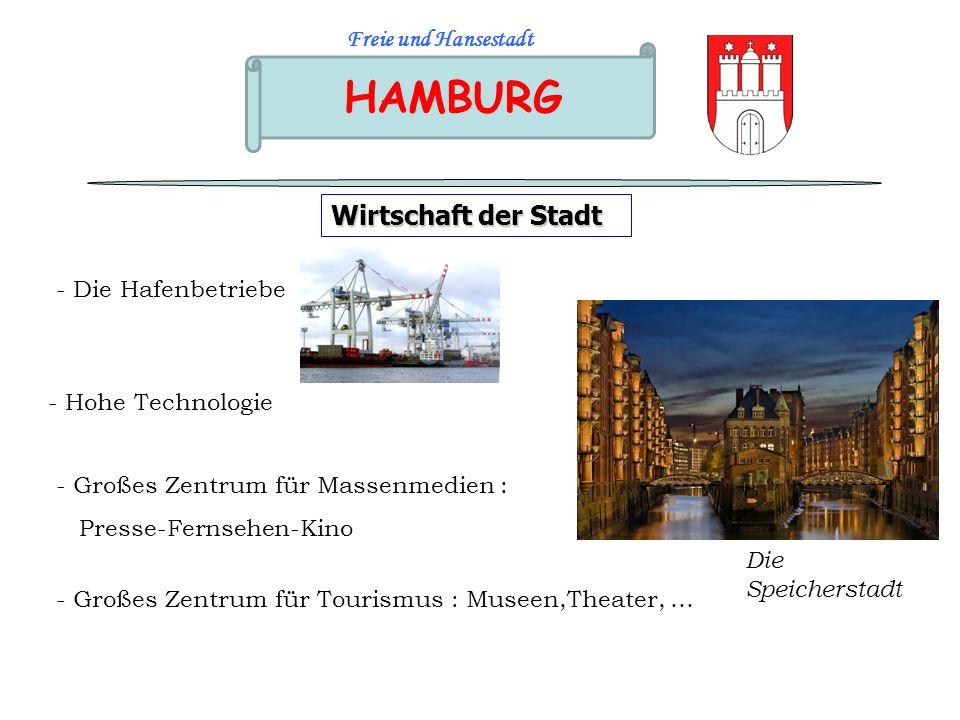 HAMBURG Wirtschaft der Stadt Freie und Hansestadt - Die Hafenbetriebe