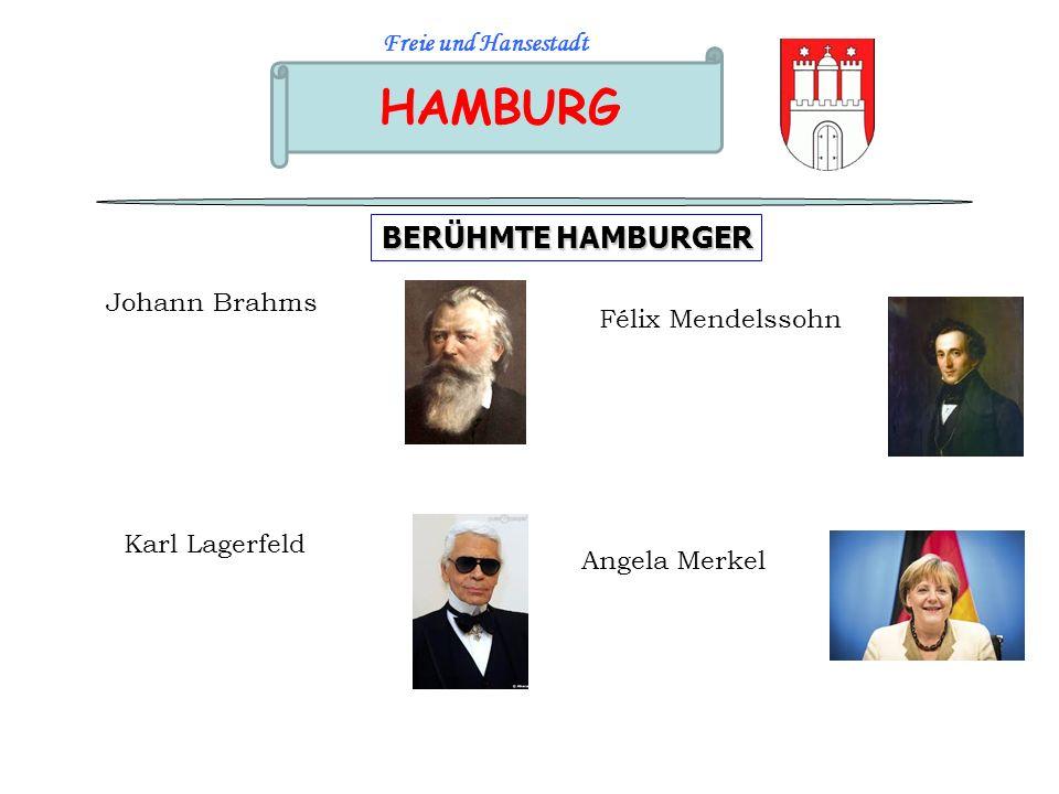 HAMBURG BERÜHMTE HAMBURGER Freie und Hansestadt Johann Brahms
