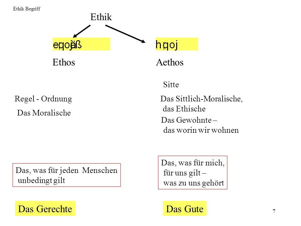 Ethik Ethos Aethos Das Gerechte Das Gute Sitte Regel - Ordnung