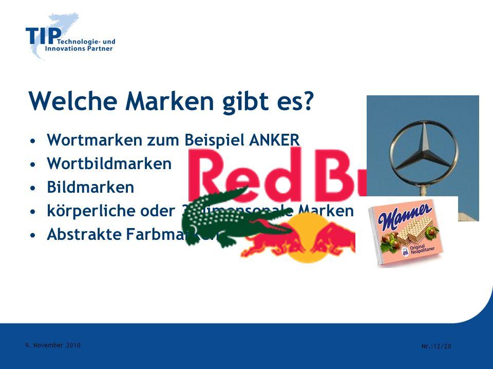 Welche Marken gibt es Wortmarken zum Beispiel ANKER Wortbildmarken