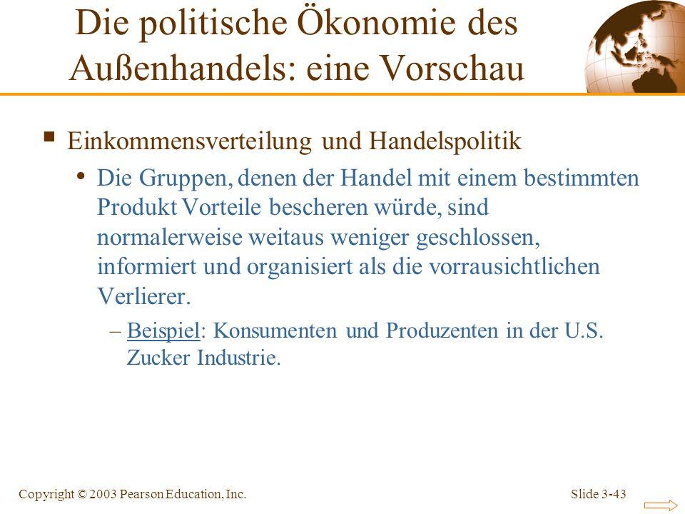 Die politische Ökonomie des Außenhandels: eine Vorschau