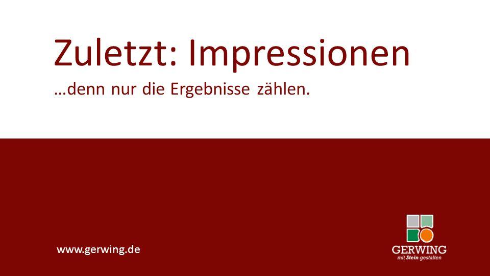 Zuletzt: Impressionen