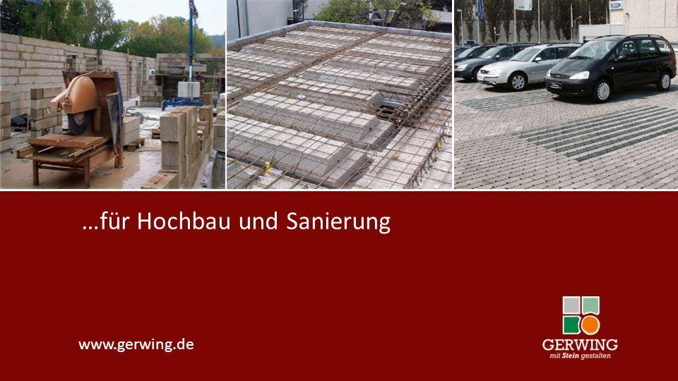 …für Hochbau und Sanierung