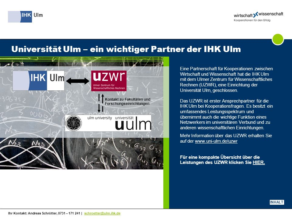 Universität Ulm – ein wichtiger Partner der IHK Ulm