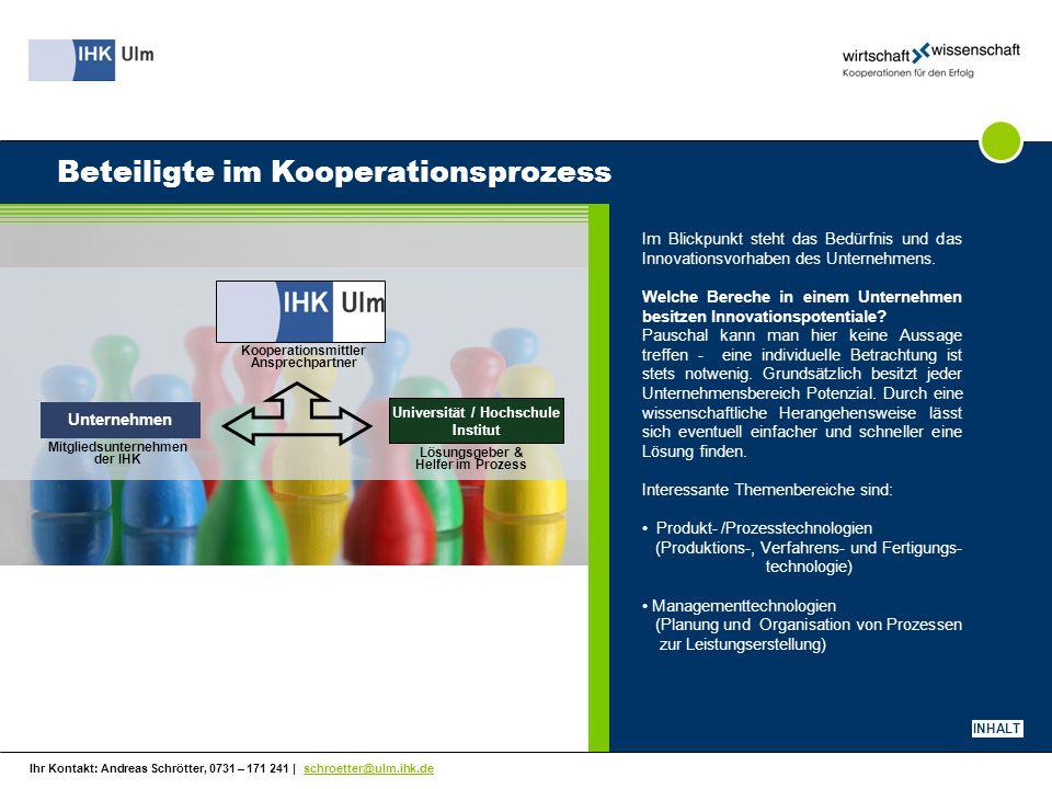 Beteiligte im Kooperationsprozess