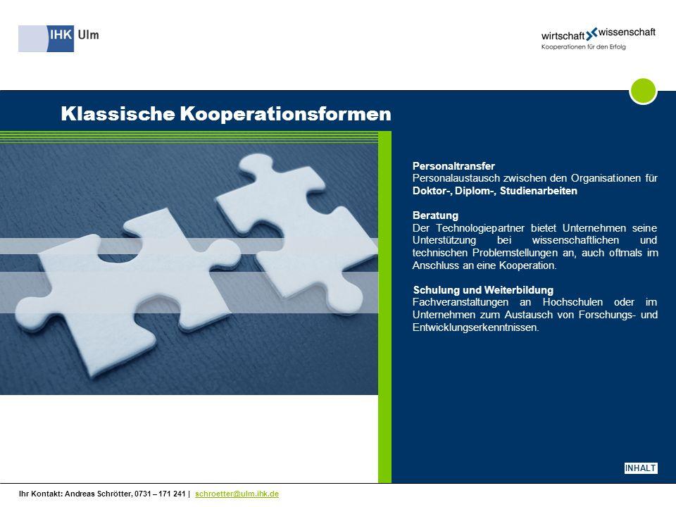 Klassische Kooperationsformen