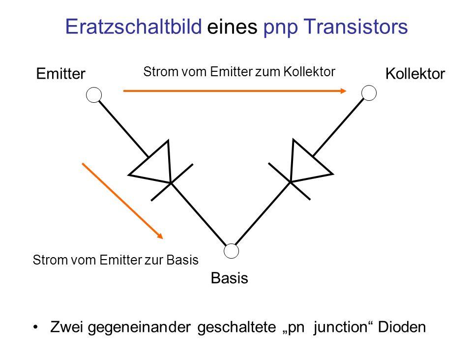Eratzschaltbild eines pnp Transistors