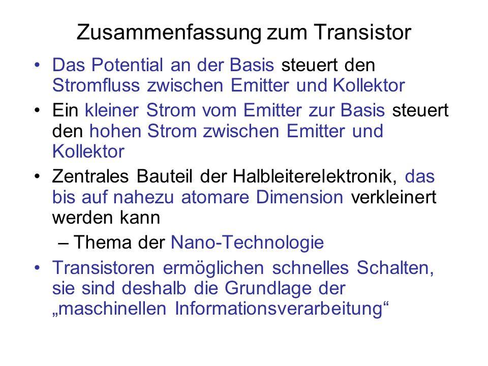 Zusammenfassung zum Transistor