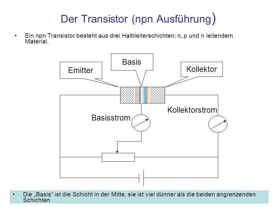 Der Transistor (npn Ausführung)
