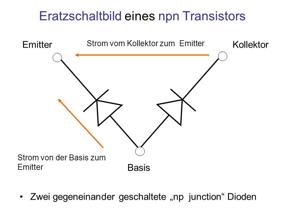 Eratzschaltbild eines npn Transistors