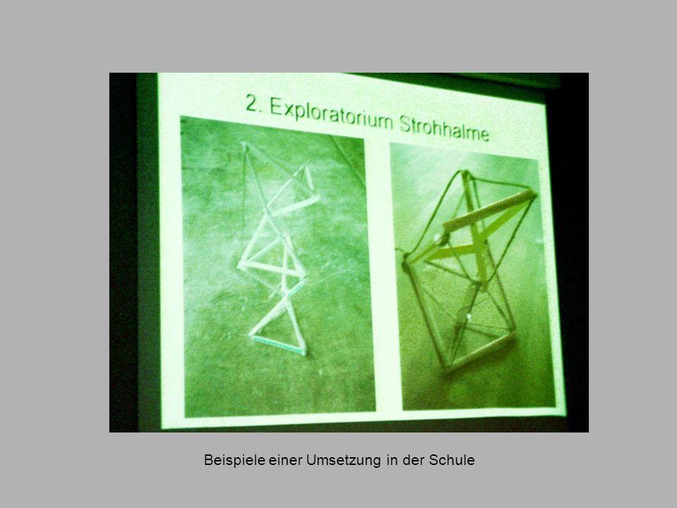 Beispiele einer Umsetzung in der Schule