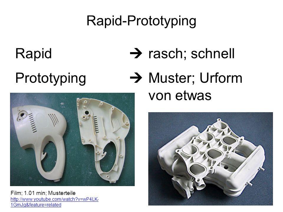 Prototyping  Muster; Urform von etwas